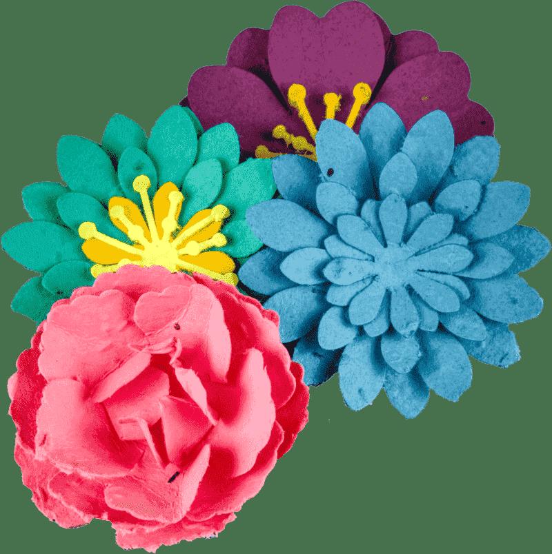 Seed paper flower