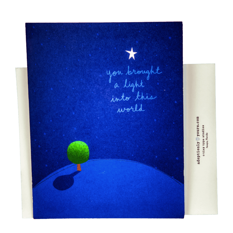Adoptionly Yours Greeting Card
